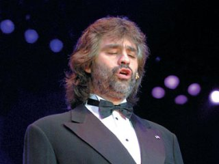 Andrea Bocelli performs in Yerevan
