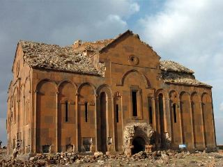 Turks destroy tombstones at Cathedral of Ani-newspaper