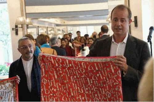 French manufacturer introduces mantles with Armenian letters