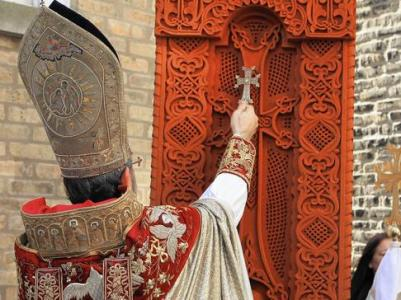 Khachkar commemorating Armenian Genocide installed in Chicago