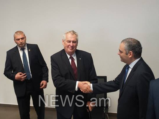 Milos Zeman: In memory of Armenian Genocide victims